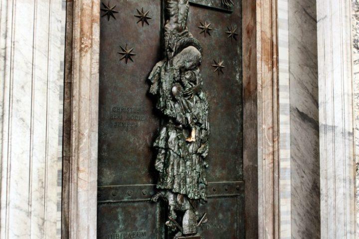 Apertura porta santa di Floriano Bodini
