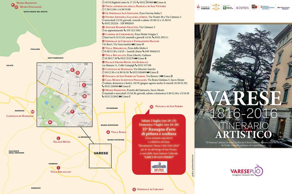 Intinerario artistico Varese 1816 – 2016
